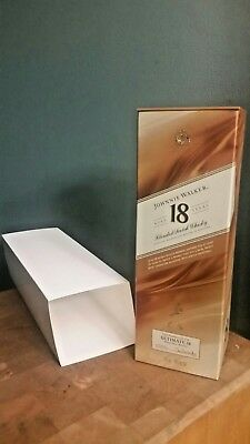 Johnnie Walker Scotch Aged 18Years Scotch Whiskey Empty Box With Cover Sleeve