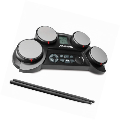 CompactKit 4 – Ultra-portable Electronic 4-Pad Tabletop Drum Kit with Velocity-S