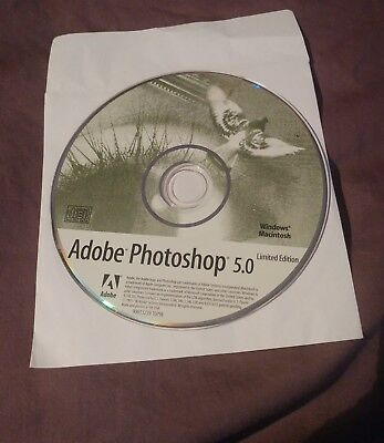 Adobe Photoshop 5.0 LE CD Windows PC Mac Limited Edition-RARE VINTAGE