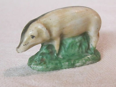 Antique/vintage hard paste porcelain pig figurine