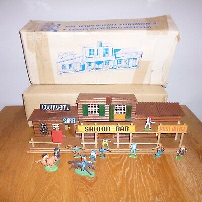 Vintage Oehme Main Street Britians Timpo Western City Wild West Cowboys Indians