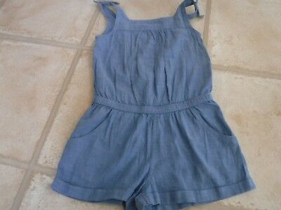 Girl's All In One Shorts / Playsuit blue age 3 years plus 100% cotton - great co