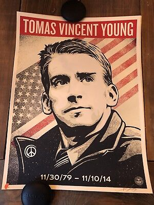 Shepard Fairey OBEY Giant Tomas Vincent Young NO MORE WAR Print Poster xx/200