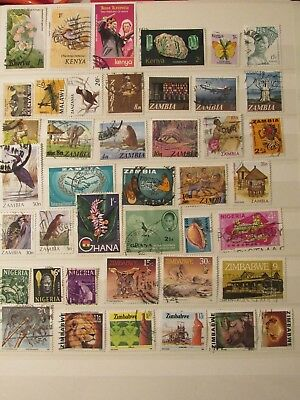Africa stamp collection10 ftom an old album