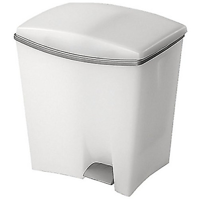 Kis rubbish bin waste collection 2 bags 20+10lt cm 39x29x43 white duetto