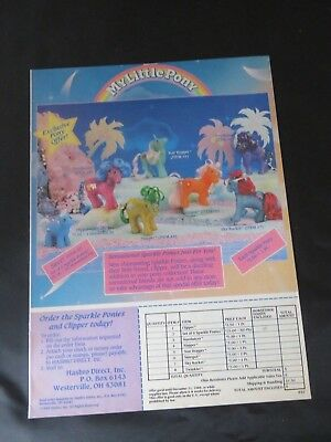 Vintage My Little Pony Mail Ordine Advertising ad - Luccicante Pony - Mlp 1988