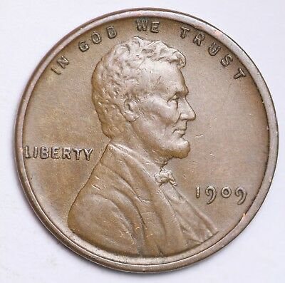 XF 1909 V.D.B. Lincoln Wheat Cent Penny LOWEST PRICES CHOICE COIN FREE SHIPPING