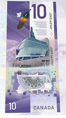 2018 Canada new Vertical $10 Polymer note Vlola Desmond  Since Nov 19,2018