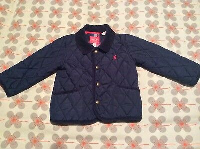 Joules Boys Navy Quilted Jacket 12-18 Months