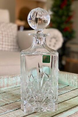 Waterford Crystal Spirits Decanter w/ Stopper Brookside Pattern Whiskey Rum