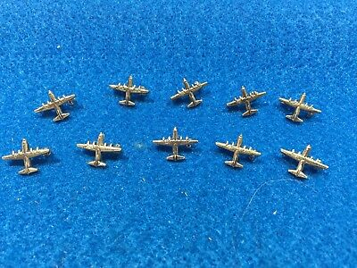 Lot of 10 1970's Vintage US Air Force C-130 Hercules Silvertone Finish Pins