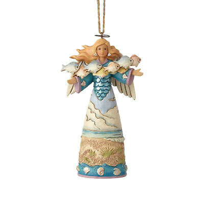Jim Shore*COASTAL ANGEL with FISH ORNAMENT*New 2018*NIB*Christmas*6001529