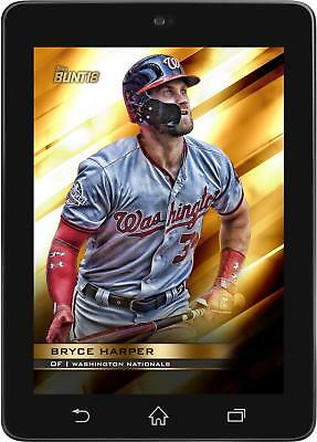Topps BUNT Bryce Harper GOLD BASE PERENNIAL 2018 [DIGITAL CARD] 100cc