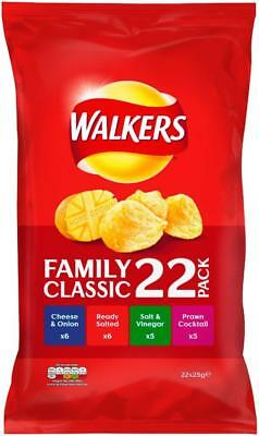 (9,90€/1kg) Walkers Crisps Variety Classic 22 x 25g FAMILY Pack