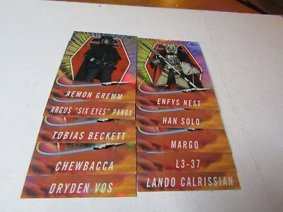 2018 TOPPS FINEST STAR WARS,  SOLO: A STAR WARS STORY SET. CARDS # SO-1 to SO-20