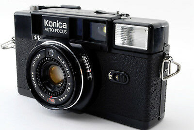 **Exc+++++** Konica C35 AF2 35mm Film Camera Hexanon 38mm Lens From Japan A0008