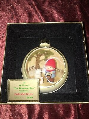 Hallmark Tree Trimmer Collection Drummer Boy Panorama Christmas Ornament QX143-9