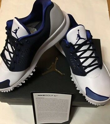 16da48319e6f Brand New Nike Men s Air Jordan Trainer ST G Golf Shoes White Obsidian Deep