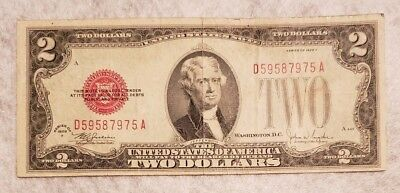1928F red seal $2 note