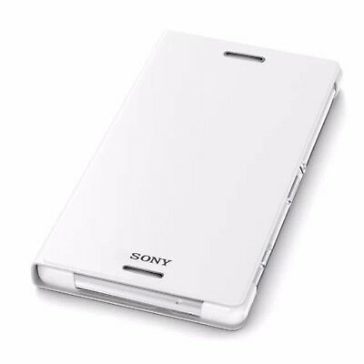 Genuine Sony SCR10 Flip Wallet Stand Case Cover Stand For Xperia Z2 White