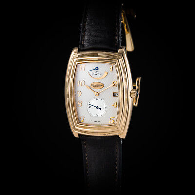"""Parmigiani 18K Rose Gold """"Ionica"""" 8 Days Power Reserve. In-house movement. Mint"""