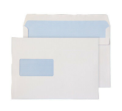 C5 A5 Plain White Window Self Seal Envelope x 500  (162 x 229) Free P&P