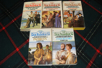 Lot of 5 Books THE CANADIANS SERIES by ROBERT E. WALL Book # 1, 2, 3, 4, 5