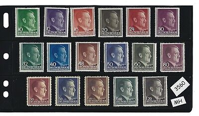 #3560  MH Adolph Hitler stamps / Occupied Poland / Third Reich / Nazi Germany