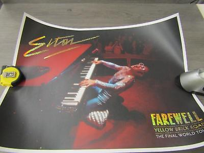 Elton John Farewell Yellow Brick Road Final World Tour Limited Edition Poster