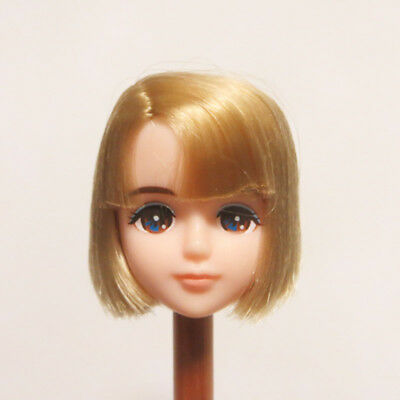Head for Licca Doll White Skin Golden Short Hair Boy Face Prince Doll Head Soft