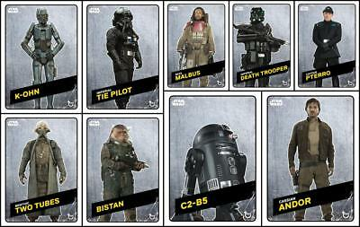 Topps Star Wars Card Trader Rogue One Challengers Wave 2 [9 CARD STEEL SET]