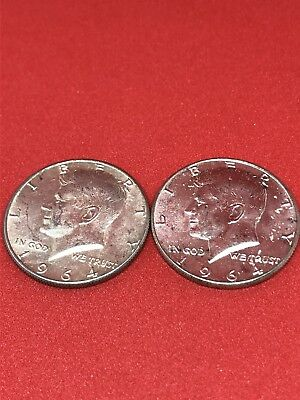 $1 Face Value 90% Silver U.S. Coin Lot - Two Half Dollars Junk Silver (0208)