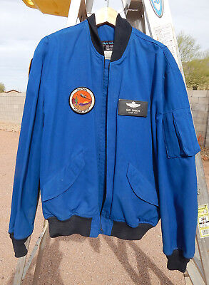Named Test Pilots Warm Weather Blue Nomex Flight Jacket with Patches, Size 44