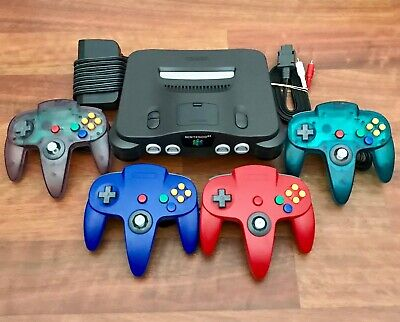 N64 Nintendo 64 Console + up to 4 New Controllers + Cords | CLEANED & TESTED
