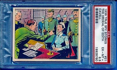 1939 R156 True Spy Stories #21 The Ordeal of Edith Cavell Psa 6.5