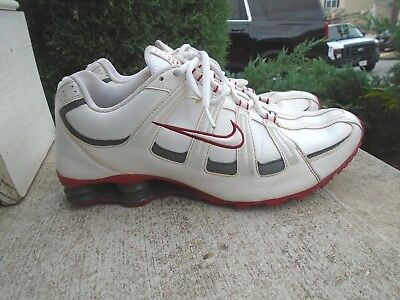 online store ebbce ed2bd Mens Nike Shox white red running shoes sz 12
