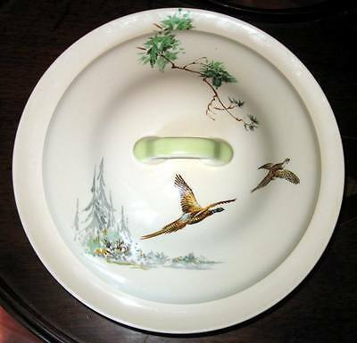 A pretty Royal Doulton Vegetable Tureen and Cover decorated flying pheasants 2
