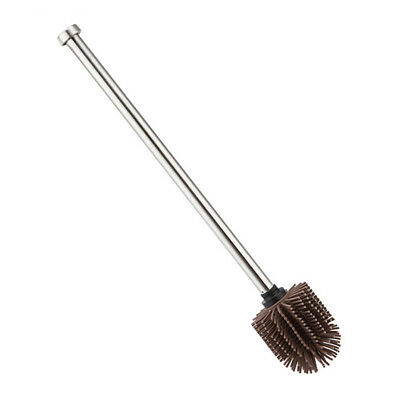Durable Long Handle Toilet Brush Scrub Silicone Stainless Steel Cleaning Tool