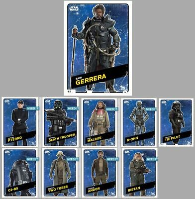 ROGUE ONE CHALLENGERS WAVE 2 SPACE VARIANT SET OF 9 + MELD Star Wars Digital