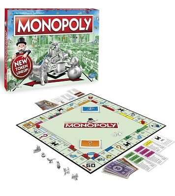 Original Genuine Hasbro Monopoly Classic Edition Family Game FREE 2 DAY SHIPPING
