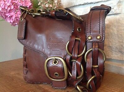COACH Bleecker Tattersall Rings Limited Ed Vintage Laced Satchel 11446 $898!