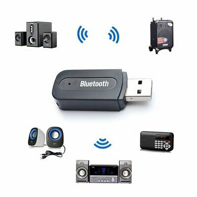 USB Wireless Bluetooth 3.5mm AUX Audio Stereo Music Home Car Receiver Adapter EA