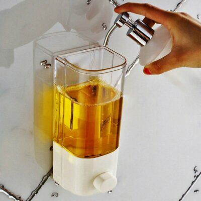 500ml Soap Dispenser Bathroom Shower Lotion Shampoo Liquid Wall Mounted New EA