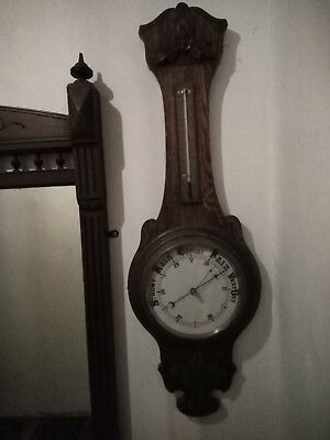 Antique Wall Barometer and thermometer Inlaid Art Deco?
