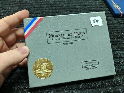 1973 French Proof Set (Fleurs de Coins) boxed, with COA - #59