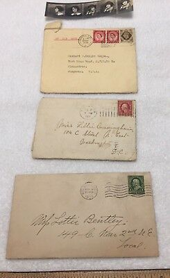 WWII Military and Early 1900's Personal Correspondence DC/VA/MD Photos Stamps