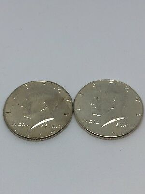 $1 Face Value 90% Silver U.S. Coin Lot - Two Half Dollars Junk Silver (0218)