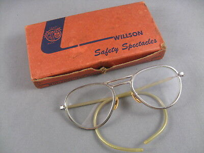 Vintage Wilson Safety Glasses Motorcycle Steampunk Glasses with Box