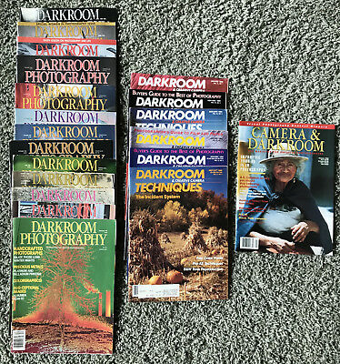 Lot 20 Vintage Photography Magazines Darkroom Photography, Techniques, Camera