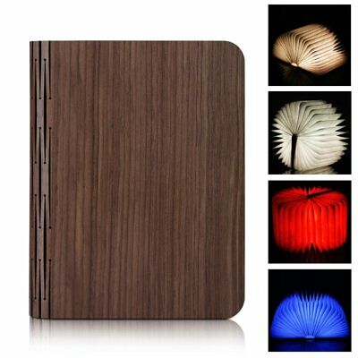 Wooden Foldable LED Nightlight Booklight&LED Folding Book Lamp,USB Rechargeable